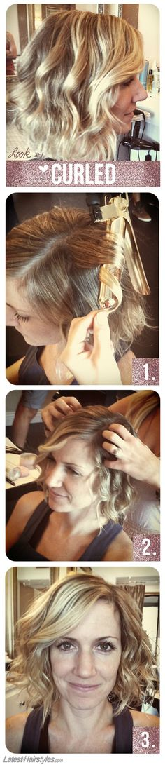 3 Hairstyles Anyone Can Do With a Short Bob Haircut - #1 Curled