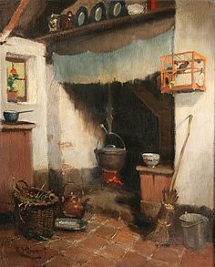 Dutch farm interior, Arie Zwart (1903-1981)