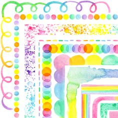 Hand painted pastel watercolor rainbow square borders are perfect for dressing up class posters, letters, and powerpoints. #pastel  #rainbow #springclipart #easterclipart #bright #watercolor #clipartforteachers #classroomdecor #handpainted #borderclipart, #rainbowclassroom, #artteacher #artroom Watercolor Border, Pastel Watercolor, Rainbow Clipart, Classroom Decor, School Stuff, Teaching Ideas, Fonts, Dressing, Scrapbooking