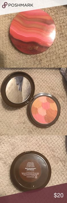 tarte Colored Clay Bronzer Blush tarte Park Avenue Princess - pink bronze. Swatched did not like color. Came in a tarte gift set so box not included. tarte Makeup Blush