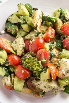 Paleo Pesto Chicken Salad — Foraged Dish