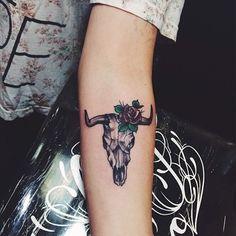 #tattoo #skull #cow