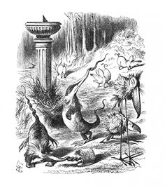 The Slithy Toves. Illustration By Sir John Tenniel, From The Book Through The Looking-Glass And What Alice Found There By Lewis Carroll. Published London Poster Print x John Tenniel, Lewis Carroll, Sleepy Hollow, Fine Art Prints, Framed Prints, Canvas Prints, Jabberwocky Poem, Alice In Wonderland Original, Wonderland Alice