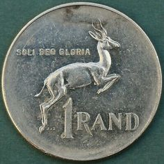 1 Rand, Soli Deo Gloria, Antique Coins, Rare Coins, Silver Coins, Special Gifts, South Africa, Free Shipping, Pictures