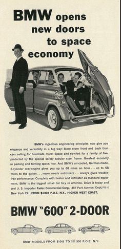 1959 BMW 600 #bmwvintagecars