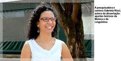 A pesquisadora e cantora Gabriela Ricci, autora da dissertação: aportes teóricos da Música e da Linguística