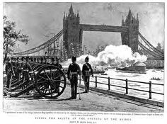 The Opening of Tower Bridge - London, June 30, 1894.