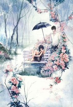 Anime Love Couple, Couple Art, Couple Illustration, Illustration Art, Anime Cover Photo, Cover Wattpad, Cute Panda Wallpaper, Anime Couples Drawings, Girl Drawings