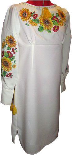 #вишиванка жіноча, сукня вишивана з квітами (Арт. 00349), 880 ГРН.
