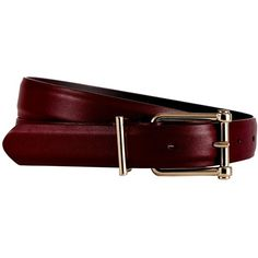 Reiss Sari Leather Jeans Belt (1 960 UAH) ❤ liked on Polyvore featuring accessories, belts, ox blood, red leather belt, 100 leather belt, red belt, leather belt and reiss