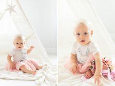 Zdjęcia dziewczynki z sesji niemowlęcej w LIRYKA Atelier