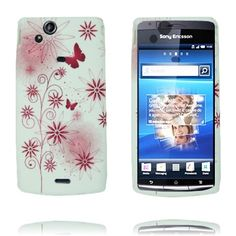 Symphony (Rosa Blomst Sommerfugl) Sony Ericsson Xperia Arc Deksel Pink Flowers, Sony, Butterfly, Cover, Bowties, Blankets, Butterflies, Pink Blossom