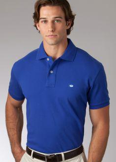 Southern Tide, Skipjack Polo, Classic, University Blue, blue polo, Men's designer, tailgate attire, college football, Men's fashion, comfort, best fit, Father's Day Gift Ideas, Skipjack, preppy, men's attire