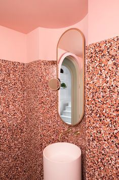 The Budapest Cafe in Chengdu, China by featuring speckled multi colored terrazzo - inspired by Adam Stockhausen's production design in Wes Anderson's film The Grand Budapest Hotel. Grand Budapest Hotel, Budapest Cafe, Chengdu, Interior Design Trends, Home Design, Interior Decorating, Design Ideas, Design Design, Bad Inspiration