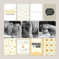 News Project Life pocket scrapbooking layout ideas. Inspiration for keeping a pocket scrapbook Baby Boy Scrapbook, Scrapbook Bebe, Paper Bag Scrapbook, Baby Scrapbook Pages, Project Life Scrapbook, Project Life Layouts, Pocket Scrapbooking, Scrapbook Page Layouts, Scrapbook Supplies