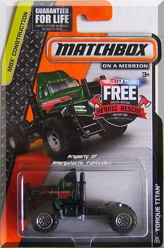 "Green w/Black interior, ""Torque Titan Towing"" Tampos on sides, Grey Thailand base, ChrCT5SP. Only $5.49 with Free Shipping! Plastic Model Kits, Plastic Models, 1980 Toys, Hot Wheels Treasure Hunt, Matchbox Cars, Hot Wheels Cars, Cool Cartoons, Diecast Models, Old Toys"