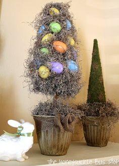 {DIY} Easter Egg Topiary