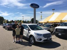 ALLYN AND TERRI's new 2017 Ford Escape! Congratulations and best wishes from Kunes Country Ford Lincoln of Delavan and Alex Gomez.