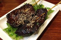 Photo of grilled beef skewers from Sunrise Restaurant, Dorchester, Massachusetts (from http://hiddenboston.com/foodphotos/sunrise-beef-skewers.html)