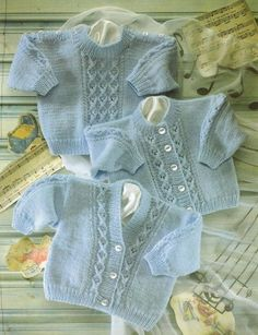 This is a Pdf knitting pattern for a baby cardigan and jumper set with cable design To fit 0 - 2 years Chest 16 - 22 inch Worked in Snuggly DK Baby Cardigan Knitting Pattern Free, Crochet Baby Jacket, Baby Boy Knitting Patterns, Knitted Baby Cardigan, Knit Baby Sweaters, Knitting For Kids, Knitting Designs, Baby Patterns, Free Knitting