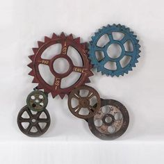 Can you say steam-punk Gears & Sprockets Wall Décor | dotandbo.com