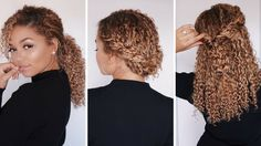 3 Super Easy Hairstyles for 3b/3c Curly Hair   Bella Kurls Extensions   ...