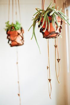 Leather pot holders by Steve Soria