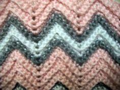 Crocheted baby girls afghan blanket