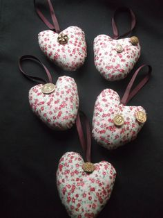 LAVENDER SCENTED Floral Heart with Vintage by gabriellesgifts, £6.00