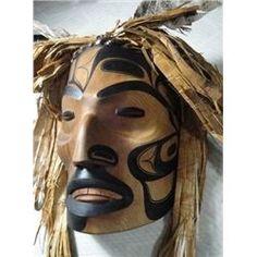 Northwest Coast Shaman Mask; authentic native art from world class master carver Doug David