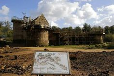 chateau de guedelon, currently under construction using 13th century techniques…