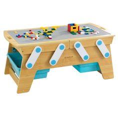 Table building bricks play n store kidkr   Nature & Découvertes