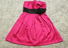 Speechless Dress Juniors Size 7 Pink Satin Strapless Formal Cocktail