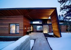 Architektur: Ein tolles Haus in den Rocky Mountains