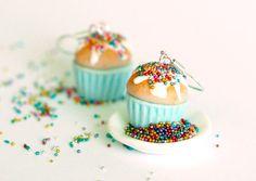 Miniature food earrings of mint earrings cupcake kawaii Polymer clay on Etsy, $16.00