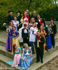 See The Greatest Disney Cosplay Wedding Ever - CinemaBlend.com I enjoy Disney and I even want to get married at Disneyland but even I draw the line at this. though props to this bride for getting what she wanted.