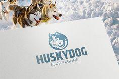 Husky Animal Logo. By Steinar Logo on @creativemarket