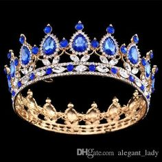 Baroque Big Crown Pageant Full Circle Tiara Clear Austrian Emerald Rhinestones King Queen Crown Wedding Bridal Crown Costume Party Art Deco Eden Heel Bridal Shoes Romantic Artificial Flowers Online with $25.15/Piece on Alegant_lady's Store | DHgate.com