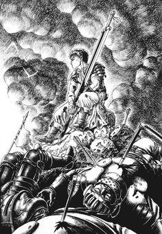 Dark Art Illustrations, Illustration Art, Manga Anime, Anime Art, Kentaro Miura, Old School Cartoons, Biblical Art, Fan Art, Manga Pages