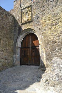Main Door, Cahir Castle, County Tipperary, Ireland.