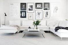 Living room decorado no estilo escandinavo. #scandinavian style - mais no blog Mais