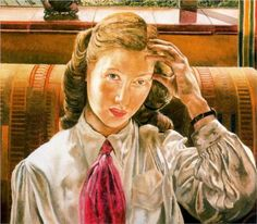 Daphne by the Window, Northern Ireland by stanley spencer
