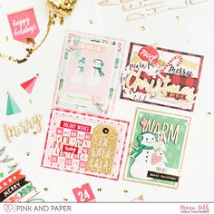 Christmas Cards with Crate Paper - Falala Collection