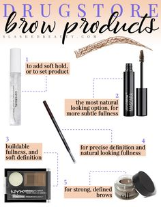 Best Drugstore Brow Products for Every Style Which brow product is best for your brow style? Check out the best drugstore brow products depending on your preferred brow look. Best Eyebrow Products Drugstore, Drugstore Makeup, Brows Products, Beauty Tips For Face, Best Beauty Tips, Beauty Soap, Ingrown Hair, Covergirl, Skin Care