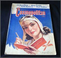 May 1941 Cosmopolitan Magazine  Bradshaw by TreasuresToEnvy, $30.00