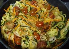 Espaguetis / Tallarines de calabacín con Salsa Pesto (vegana)
