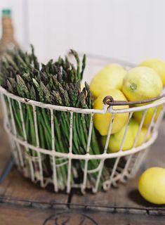 Straight from the farmer's market #KarenWisePhotography #Lemons #Asparagus http://foodandart.com