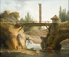 Hubert Robert, 1733-1808. Vue du parc de Méréville, huile sur toile. Archives de l'Essonne, Chamarande © DAPM/Yves Morelle