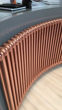 Multi column Radiators curved and in a rose gold finish. Great style and in hundreds of different sizes. Curved Radiators, Best Radiators, Column Radiators, Cast Iron Radiators, Painted Radiator, Copper Paint, Designer Radiator, Metal Fabrication, Heating Systems