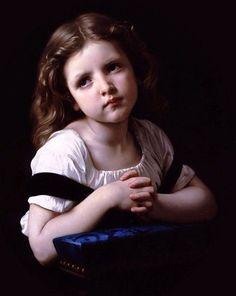 La priere-William Adolphe Bouguereau (1825 – 1905, French)